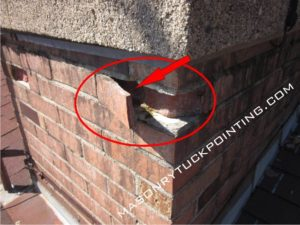 Spalling brick - brickwork repair and replacement in Chicago and surrounding area