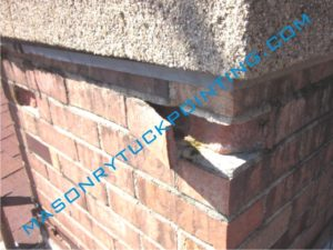 Brick spalling - South Addison brick repair and replacment