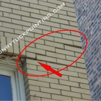 Corroding lintel related brick wall cracks - steel lintel replacement Chicago