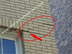 Corroding lintel related brick wall cracks - steel lintel replacement North Chicago IL
