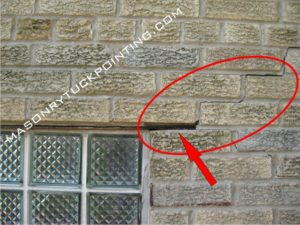 Mortar falling off from between the bricks and cracks appearing along the mortar joints - steel lintel replacement Lisle IL might be required soon