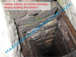 Heavily deteriorated brick chimney interior - chimney repair Wauconda IL