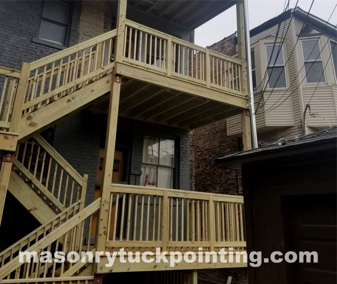 Chicago porch rebuilding, guardrails, safeguards, handrails, by EDMAR Corporation