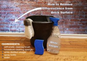 How to remove efflorescence from brick surface